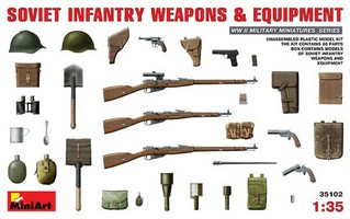 Soviet Infantry Weapons & Equipment 1:35